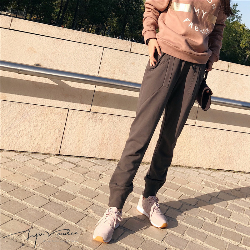 JUPE VENDUE Womens Fashion Jogging Pants Casual Trousers Grey 58607