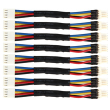 8Pcs/lot Fan Resistor Cables PC Cooling Fan Speed Reduce 4 Pin Power Resistor Male to Female Converter Cable Adapter Promotion