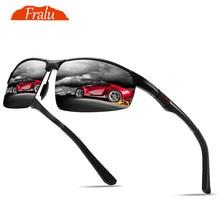FRALU New aluminum magnesium sunglasses men's polarized glasses personality hipster sunglasses driver driving mirror