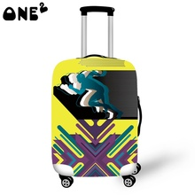 Buy one get one free ONE2 The runners Printing Cover Apply to 22,24,26 Inch Suitcase travelling eminent Luggage cover