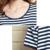 2017 nuevo verano de maternidad camisetas más tamaño Algodón de la raya las camisetas de las mujeres embarazadas camisetas de maternidad tees camisetas con gráficos mujeres