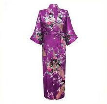 2015 Silk Bathrobe Women Satin Kimono Robes For Women Floral Robes Bridesmaids Long Kimono Robe Bride Silk Robe Dressing Gown cheap Polyester Faux Silk Poplin Short Animal Floor-Length summer 3456