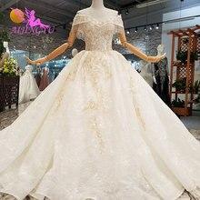AIJINGYU فساتين زفاف مسلم 2 قطعة الثياب Bridals بأسعار معقولة مع اللون حجم كبير ثوب الزفاف الأفكار