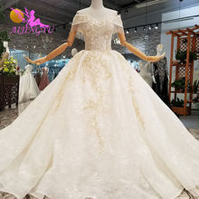 AIJINGYU Muslim Bridal Dresses 2 Piece Gowns Free Shipping Affordable Bridals With Color Plus Size Gown Wedding Dress Ideas(China)