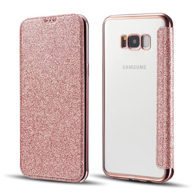 samsung s8 phone case wallet glitter