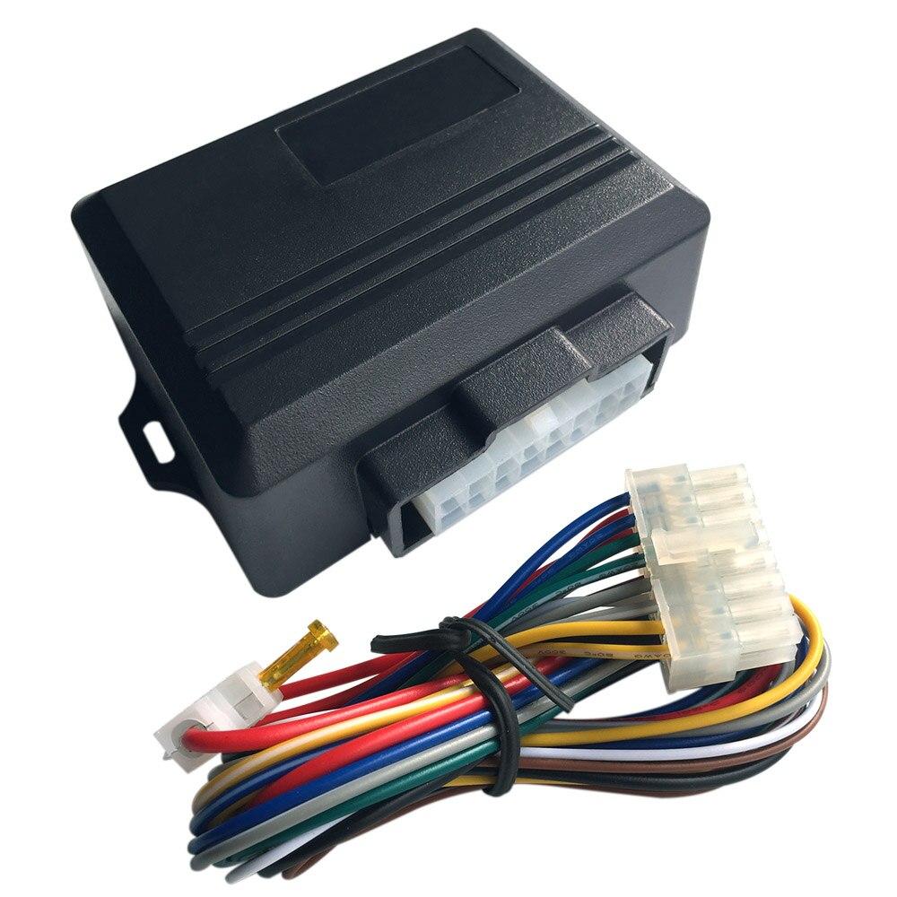 1 juego Universal 10 V-16 V Auto seguridad energía ventana enrollable Universal para 4 puertas ventanas módulo de alarma para coche