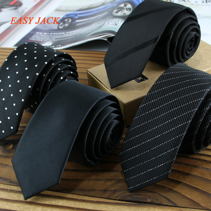 5cm Classical Black Men Ties Skinny Fashion Times Business Meeting Office Guy Neckties Slim Leisure Party Boys Corbata Gifts