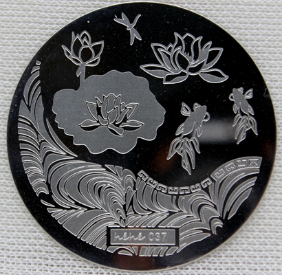 Nail Art Stamp Stamping Plate Template Fish Lotus Dragonfly Wave Nail Art Stamp Template Image Plate hehe037 in Nail Art Templates from Beauty Health