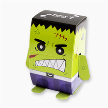 50 Pcs halloween decoration kids party Vampire Mummy Gift bag Packaging monster Cookies Paper gift Boxes Candy Halloween Box
