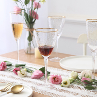 Japanese Phnom Penh Hammer eyed Glass Wine Water Cup Lead free Red Wine Cup Wine Champagne Cup Foot Cup