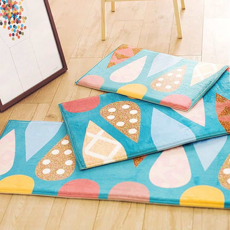 Hohe Qualität Blau Eis Muster Wildleder Bodenmatte Rechteck Teppiche ...