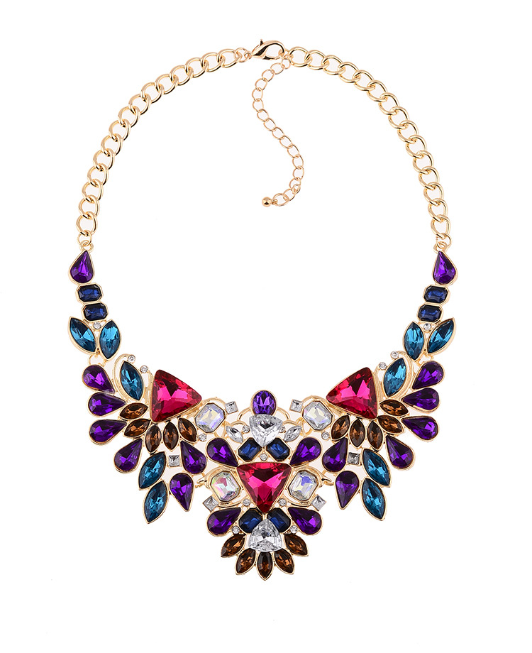 2016 New Hot Sale Crystal Statement Necklace Cheap...