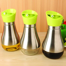 Kitchen Cooking Baking Essential Ware Silver  Stainless Steel Olive Oil Bottle Jar Pot Flask Tool Can Oil Bottles Cookware