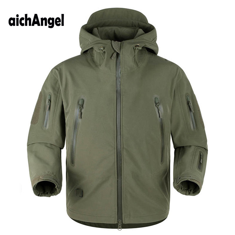 aichAngeI Upgraded TAD V5.0 Shark Skin Tactical Military Jacket Waterproof Windbreaker Softshell Coat Mens Army Hoody Jacket