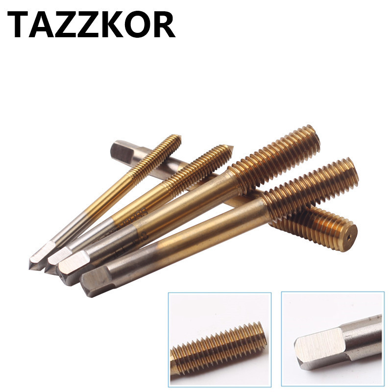 Fluteless Forming Machine Taps Metric Fine Thread Extruding Titanium Nitride M35 Coating For Stainless Steel By Extrusion Taps