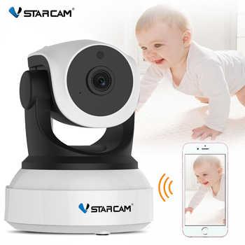 Vstarcam câmera inteligente de monitoramento de bebê, filmadora c7824wip de áudio bidirecional com câmera de detecção de movimento e segurança sem fio ip
