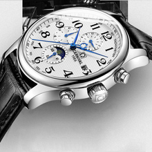 2019 Top Brand Luxury Mens Watches Mechanical Leather Shock Resistant Self-windi