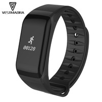 VESTMADRA F1 Bluetooth Smart Bracelet Blood Pressure Waterproof Wristband Heart Rate Monitor Fitness Tracker for Android iOS