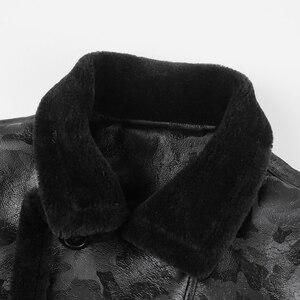 Image 4 - ผู้ชายสีดำฤดูหนาวอุ่น lamb ขนสัตว์ casual ชายเสื้อขนสัตว์ plush faux เสื้อแจ็คเก็ตหนังยุโรปสไตล์ F7146