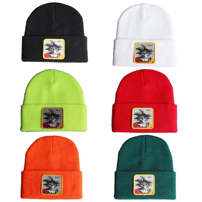 Anime Dragon Ball Son Goku Beanies Cap Women Men Winter Knitted Hats Hip Hop Unisex Soft Bonnet Caps