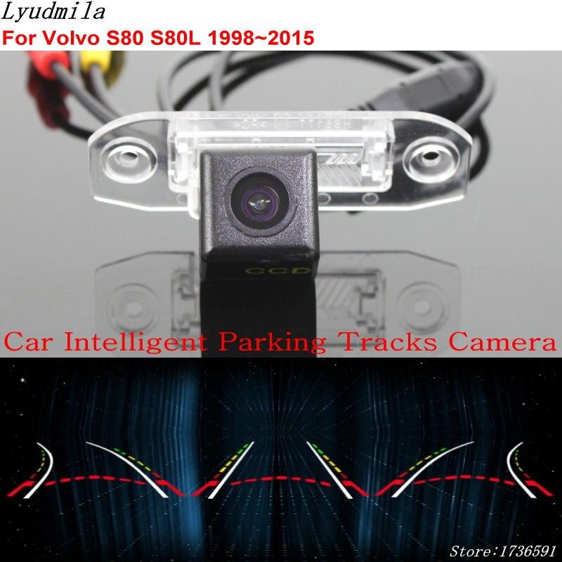 Lyudmila voiture Intelligent Parking pistes caméra pour Volvo S80 S80L 1998 ~ 2015/voiture de recul caméra de recul