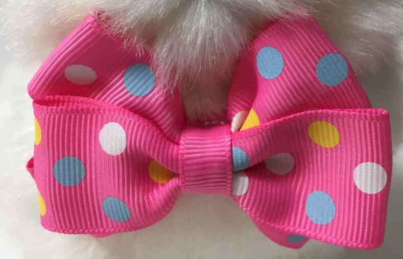 (120 unids/lote) gran venta moda chica mascota perro cachorro gato lazo corbatas Bowknot Grooming productos estilo mixto Y19451