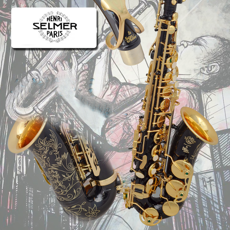 New High Quality Saxophone Alto Sax Selmer 802 alto saxophone Musical Instruments Professional E-flat Sax Alto Saxophone alto saxophone selmer 54 brass silver gold key e flat musical instruments saxophone with cleaning brush cloth gloves cork strap