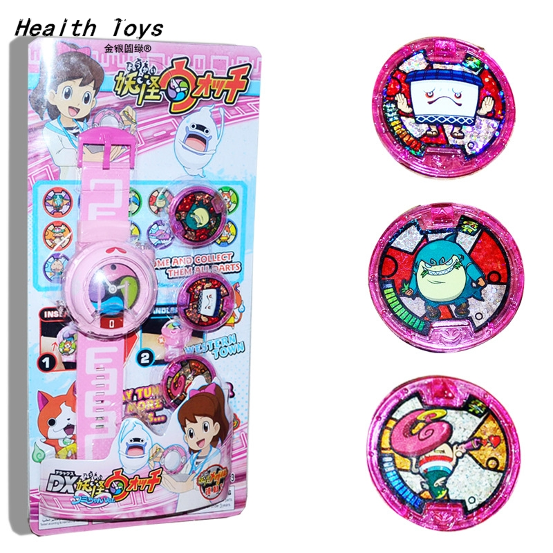 2018 Anime Peripheral Yo-Kai Watch <font><b>DX</b></font> Yokai Watch Kids <font><b>Toy</b></font> With 3 Medals & Music Educational <font><b>Toys</b></font> Best Gifts image