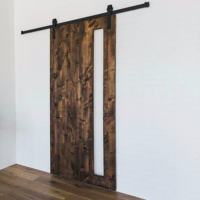 Merveilleux (Free Shipping) Rustic Black Vintage Plate Sliding Barn Door Hardwareu0026Barn Door  Track System 5ft