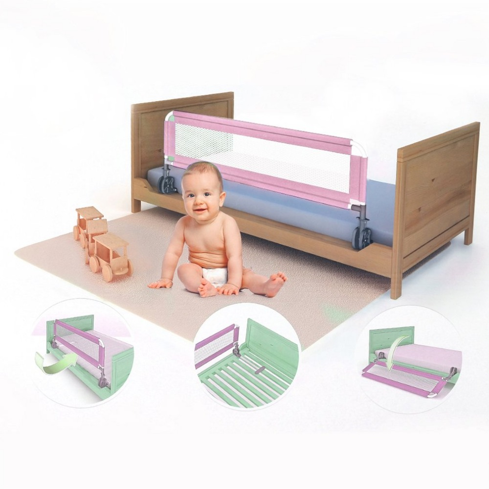 1M Portable Baby Child' s Bed Guard Rail Foldable Toddler Bed Fence Grid Safety Sleep Protective Guard Side Bedrail паяльная станция rexant zd 99 12 0152