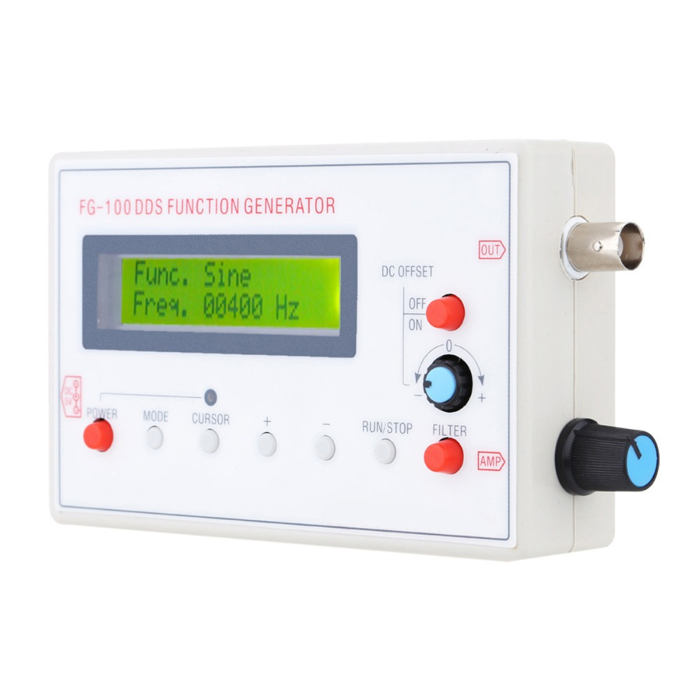 ФОТО 1HZ-500KHZ DDS Functional Signal Generator Signal Source Module Frequency Counter Sine + Square + Triangle + Sawtooth Waveform