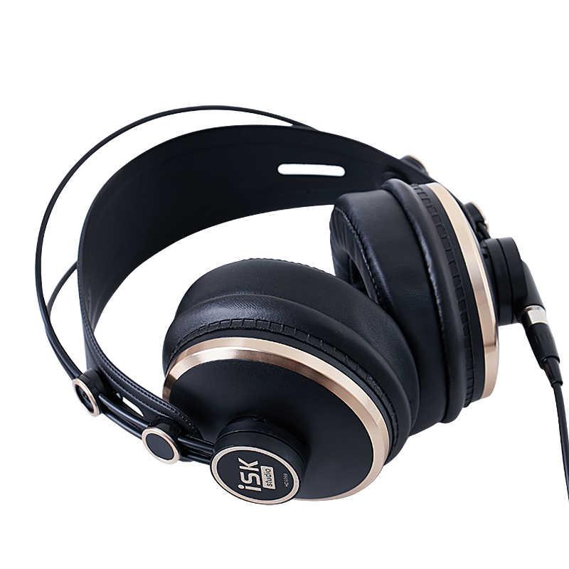 Оригинальный ISK HD9999 Pro HD монитор наушники полностью закрытые Мониторинг наушники диджея/Аудио/Смешивание/запись студийные наушники