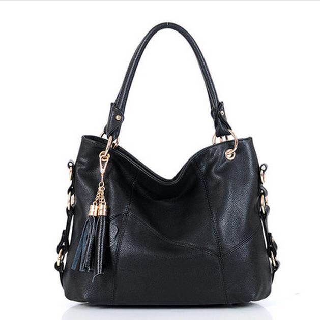 2015 NEW Retro fashion Messenger bag Mummy bag versatile high-capacity middle-aged female bag hand bag tassel handbag mom