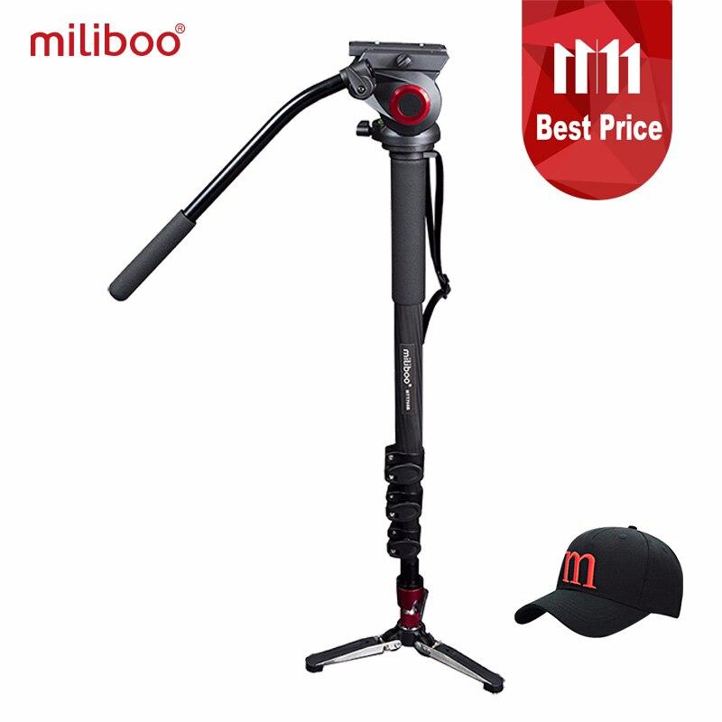 Miliboo MTT705B Portatile In Fibra di Carbonio Treppiede e Monopiede per ProfessionalCamera Camcorder/Video/DSLR Del Basamento, metà Prezzo di Manfrotto
