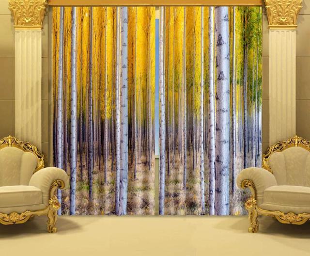 Birch printing 3 d digital curtain fabrics printed ...