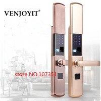 High end fingerprint lock password lock smart card lock home security lock for door