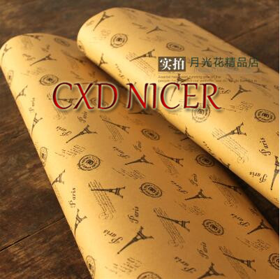 Gift Packing Paper 80G Tower Pattern Wrapping Paper Roll Teachers Day Scrapbooking Paper Flowers M140