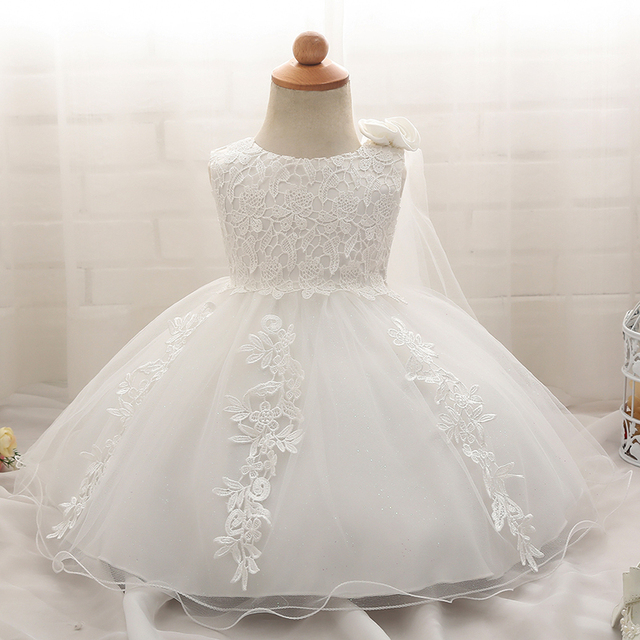c4788adc3a67 Kids White Dress Petals Designs Dresses For Girls Lace Christening ...