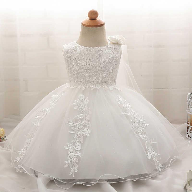 Los niños vestido blanco pétalos diseños vestidos para niñas de encaje  bautizo vestido bebé Niñas Ropa daa9cd1c8fca