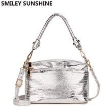 SMILEY SUNSHINE Silver Small Messenger Bag