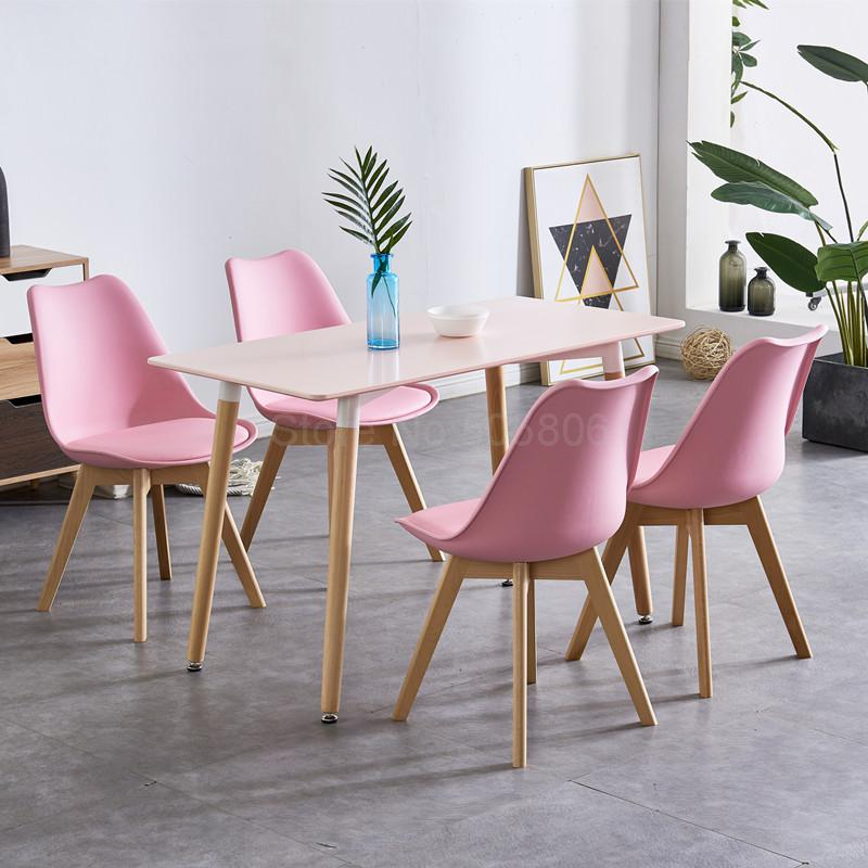 Table Chairs Combination And Small Wood Square Apartment Nordic Casual Simple