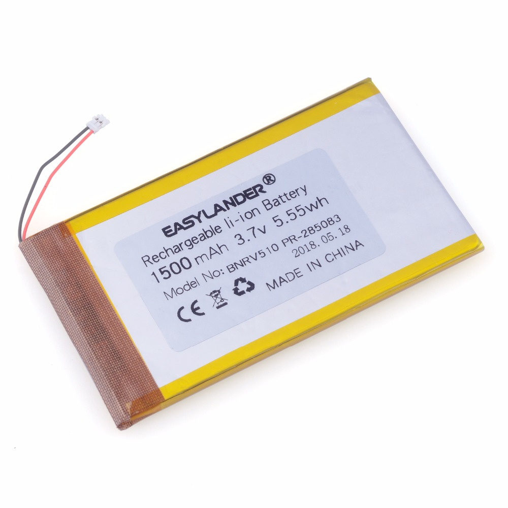 PR-285083 3.7V 1500mAh  Battery For Barnes & Noble BNRV510 Nook Glowlight Plus 2015 Kobo Glo HD H2O 285083 E-book Aura Edition2