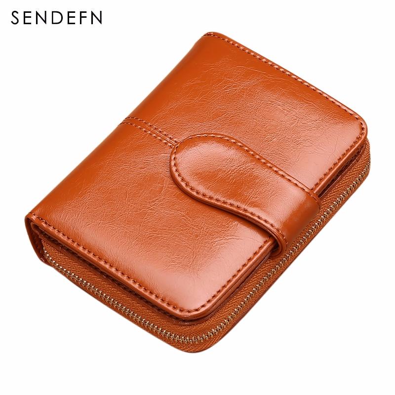 SENDEFN Dámská kožená peněženka Dámská kožená peněženka - Peněženky