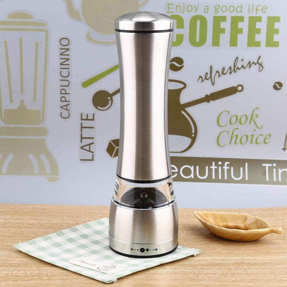 Hohe Qualität Pfeffer Grinder Silber Edelstahl Pfeffermühle Küche Werkzeuge Pfeffermühle Nützliche Für Home Küche