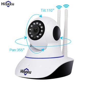 Hiseeu 720P Wireless IP Camera Wifi Night Vision Camera IP Network Camera alarm CCTV home security WI-FI P2P 1MP - DISCOUNT ITEM  55% OFF All Category
