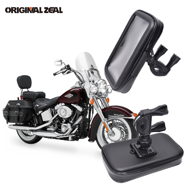 Universal Waterproof Pouch Bag Motorcycle Support Phone Holder Bike Mount Phone Stand soporte movil moto for iPhone GPS