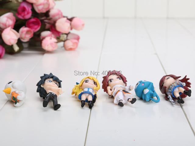 Fairy Tail 6pcs PVC Figure Toy