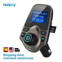 Nulaxy Автомобильный mp3 плеер Bluetooth fm-передатчик Hands-free автомобильный комплект аудио MP3 модулятор 1,44 дюймов дисплей 2.1A USB Автомобильное зарядное...