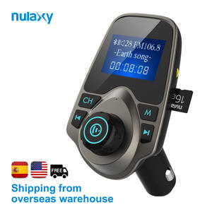 Nulaxy 1.44 Inch Car MP3 Player Bluetooth FM Transmitter Hands-free Car Kit