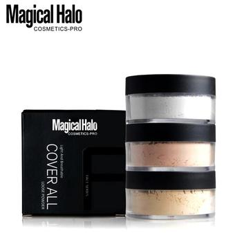 3 Colors Makeup Loose Powder With Puff Cosmetics Face Powder Oil Control Brighten Smooth Contour Palette Skin Finish Cover Matt